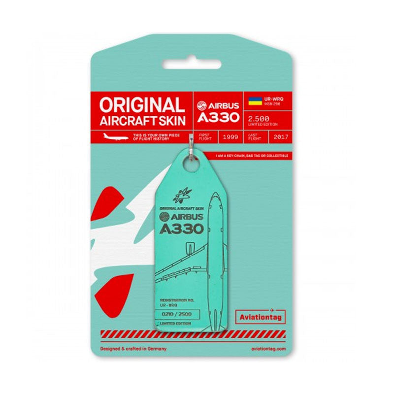 Airbus A330 Windrose Aviation Tag - Mint