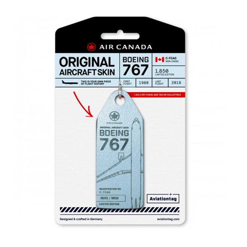 Boeing B767 Air Canada Aviation Tag - Blue