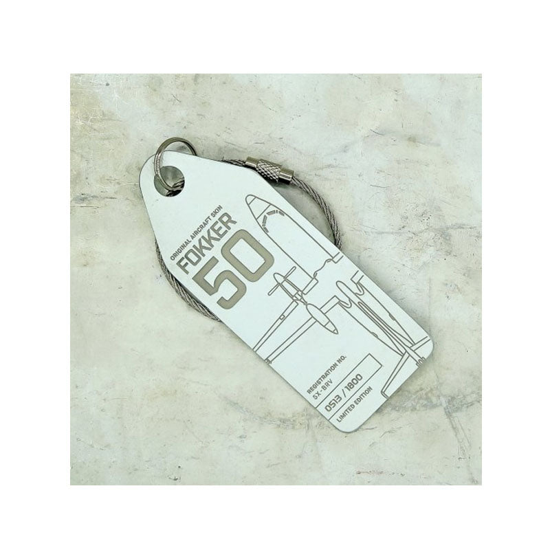 Fokker 50 SAS Aviation Tag - White - Notbrand