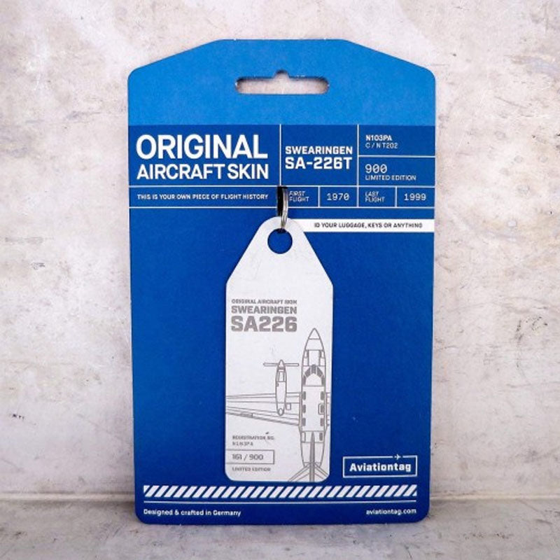 Swearingen SA 226-T Aviation Tag - White