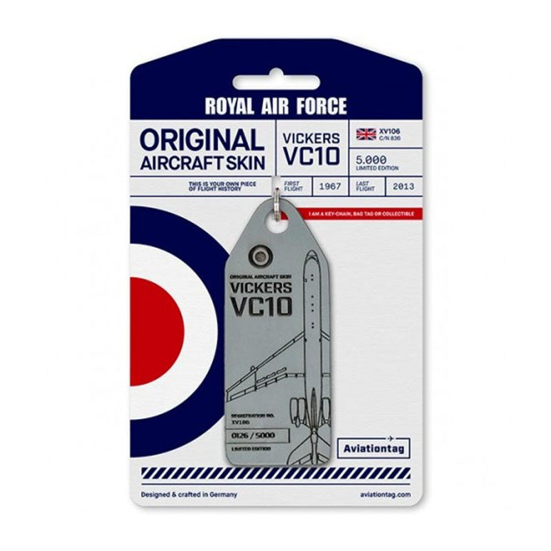 Vickers VC 10 Royal Air Force Aviation Tag - Grey