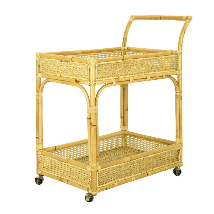 Bamboo+&+Rattan+Drinks+Trolley