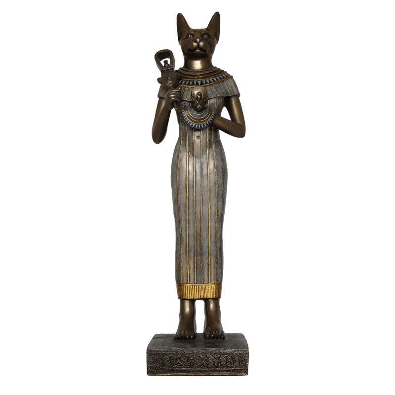 Bastet Egyptian Goddess Bronze Figurine - Large - Notbrand