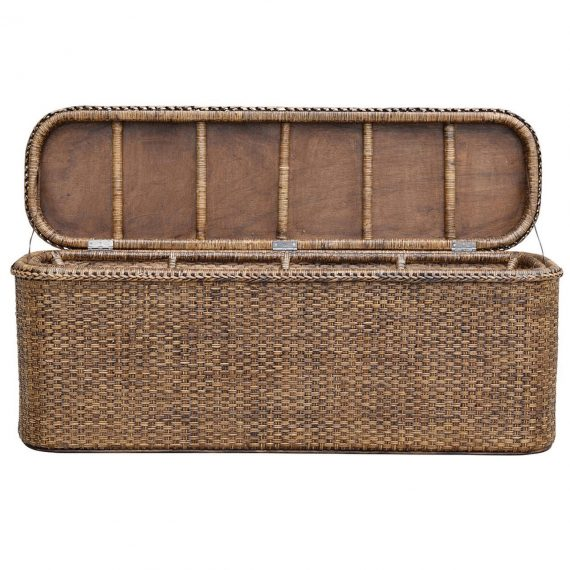 Plantation Rattan Bed End Chest - Notbrand