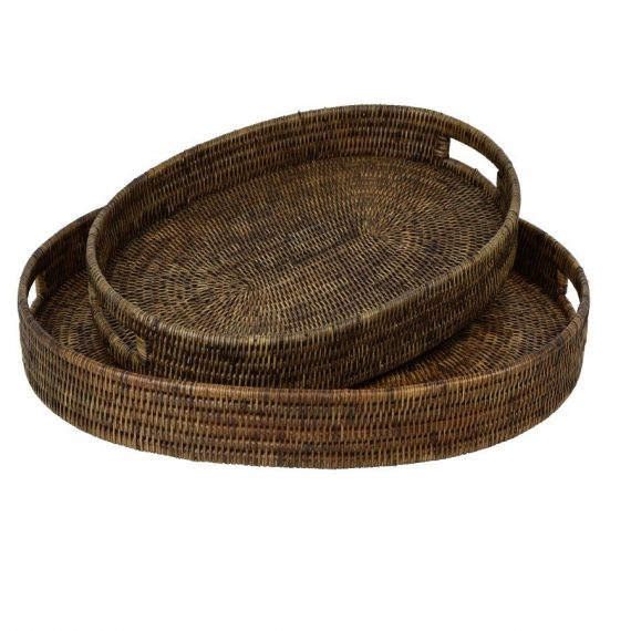 Plantation Rattan Tray Oval Small - Notbrand