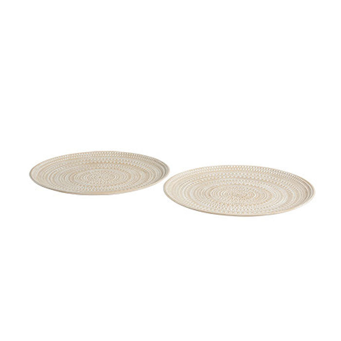 Set of 2 Bodhi Mandala Plate