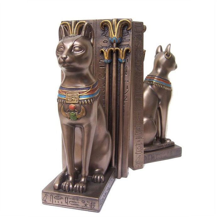 Pair of Bastet Bookends