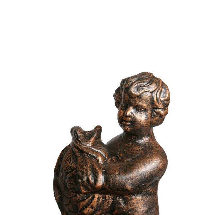 Boy With Fish Cast Iron Fountain