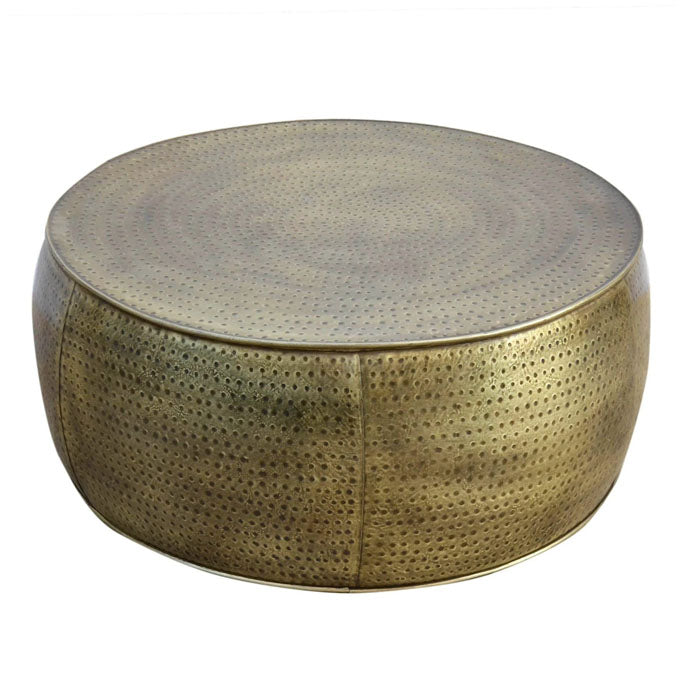 Brass Look Hammered Coffee Table - Notbrand