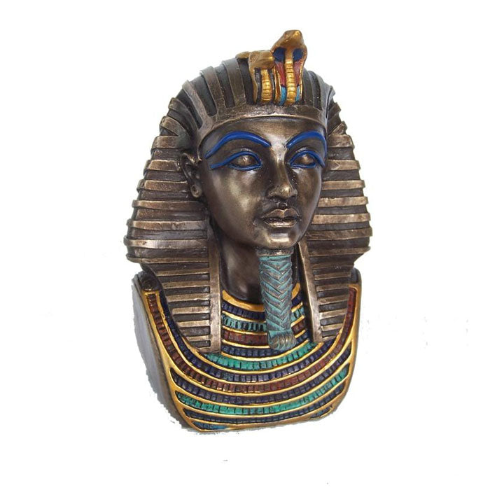 Bust Of King Tutankhamum Bronze Figurine - Notbrand