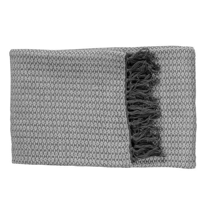 Belle Metallic Throw Grey - Notbrand