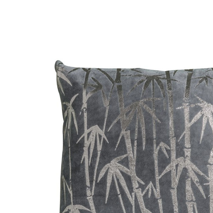 Marc Bamboo Palm Metallic Cushion Grey