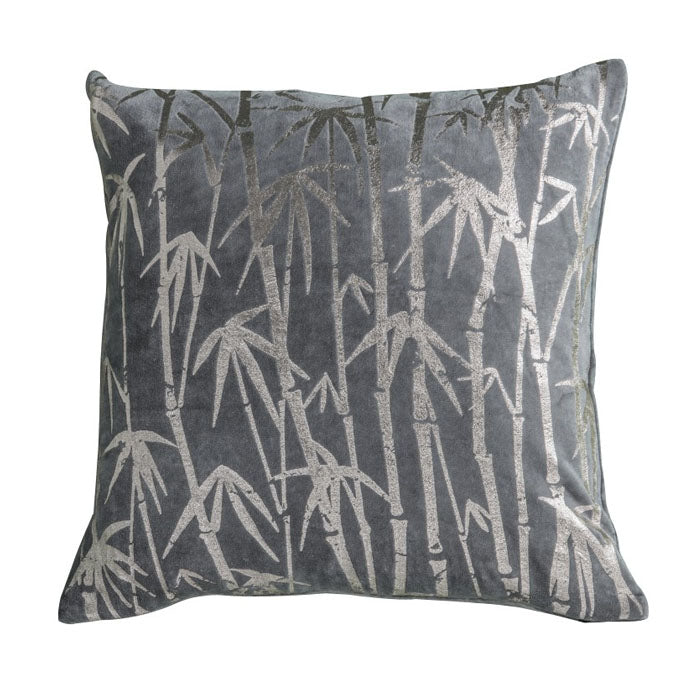 Marc Bamboo Palm Metallic Cushion Grey - Notbrand