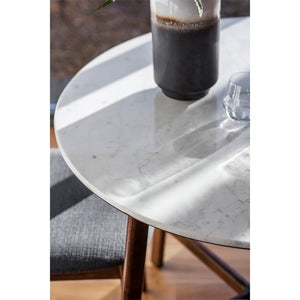 Belfast Marble Top Dining Table Round - Notbrand