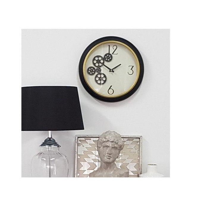 Zavron Black & White Gear Clock - Notbrand
