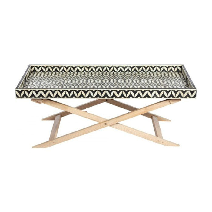 Carter Bone Inlay Criss Cross Coffee Table - Notbrand