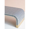 Romeo Bone Inlay Waterfall Coffee Table in White and Blue - Notbrand
