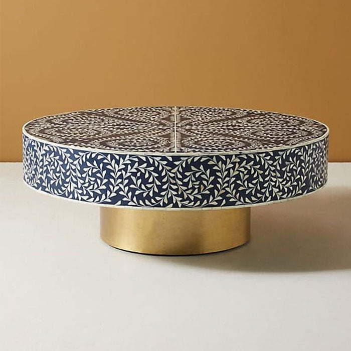 Myrcella Bone Inlay Coffee Table Indigo - Notbrand