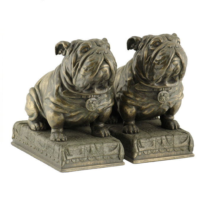 Set of 2 Bulldogs Bookends Bronze Figurine - Notbrand
