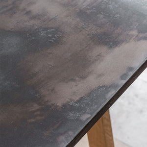 Magnus Burnished Resin Top Dining Table Large - Notbrand