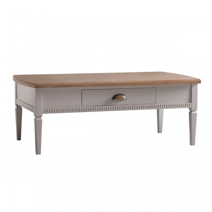 Athena 1 Drawer Coffee Table Taupe - Notbrand