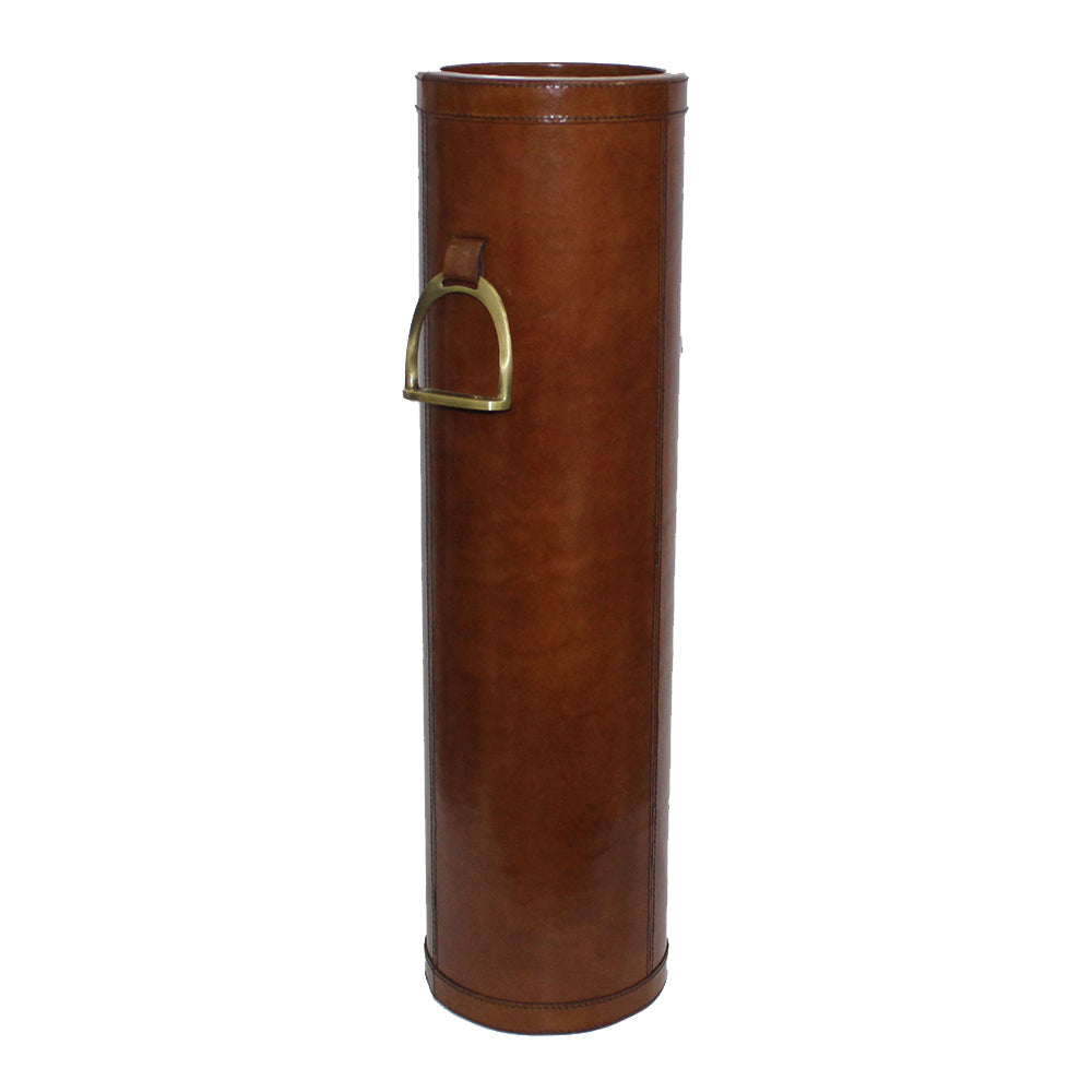 Callaway Tan Leather Walking Stick Holder with Stirrup - Notbrand