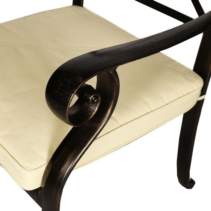 Brandi Cast Aluminium Armchair with Cushion