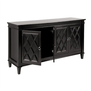 Plantation Diamond Pattern Buffet - Black - Notbrand
