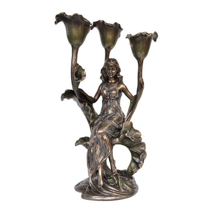 Lady With Calla Lily Candle Holder