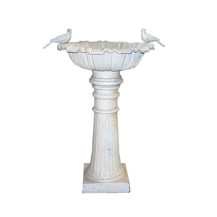 Canterbury Cast Iron Heavy Bird Bath 2 Removable Birds - Notbrand