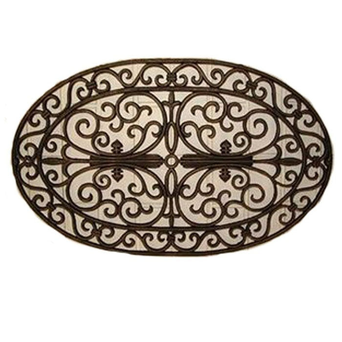 Cast Iron Door Mat Oval 72x45cm