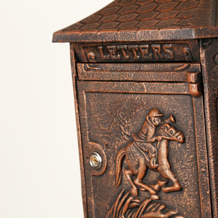 Cast Iron Letter Box with Front Key - Notbrand
