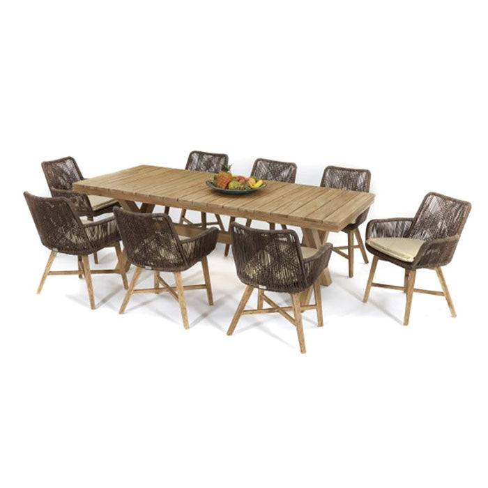 Catalina Teak Timber Outdoor Dining Table