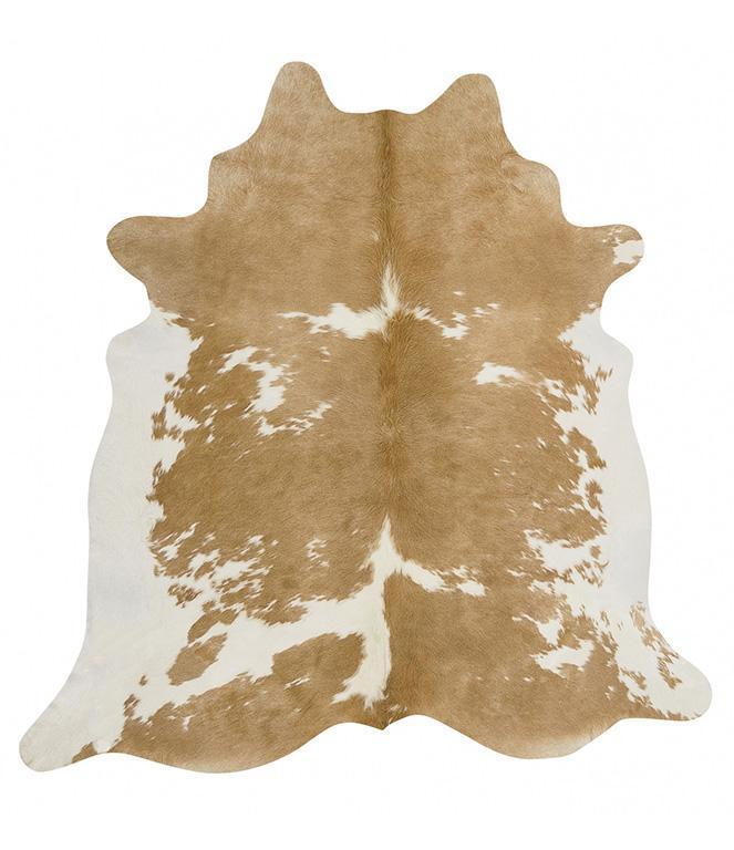 Glamorous Natural Cow Hide Rug Beige White - Notbrand
