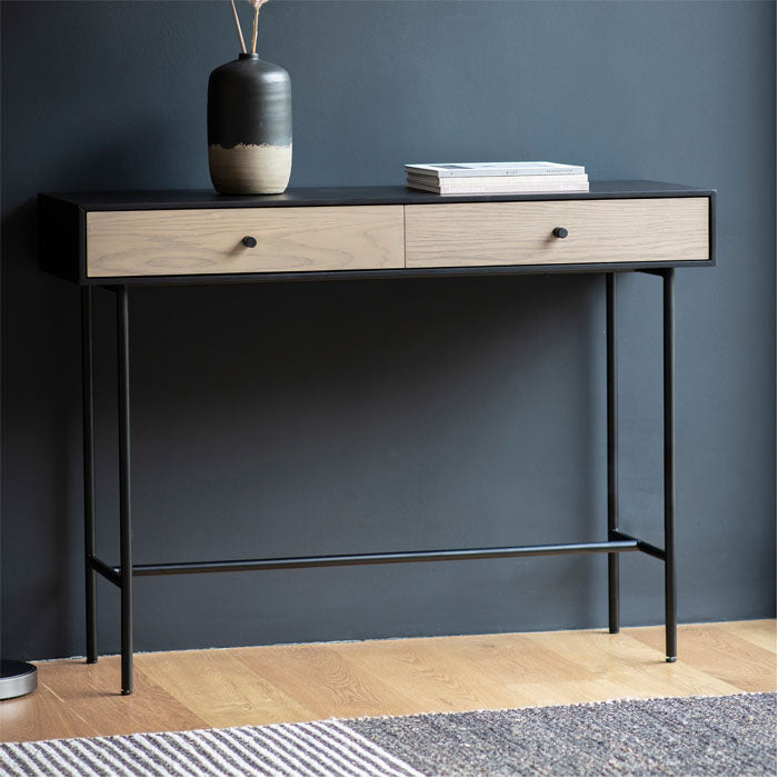 Wesley 2 Drawer Console Table - Notbrand