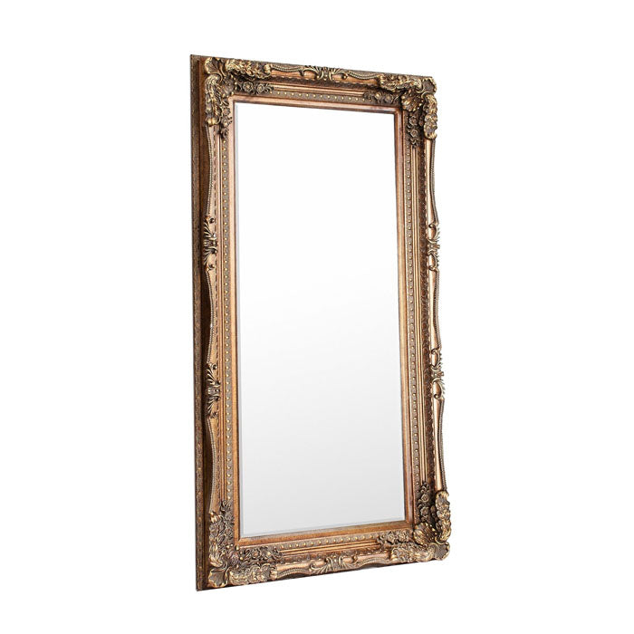 Alaric Carved Louis Leaner Mirror Gold