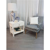 Catalina Crossed White Bedside / Side Table - Notbrand