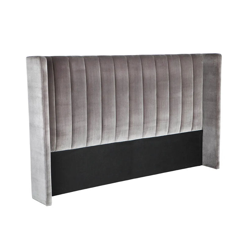 Central Park Charcoal Winged Headboard Range - Notbrand