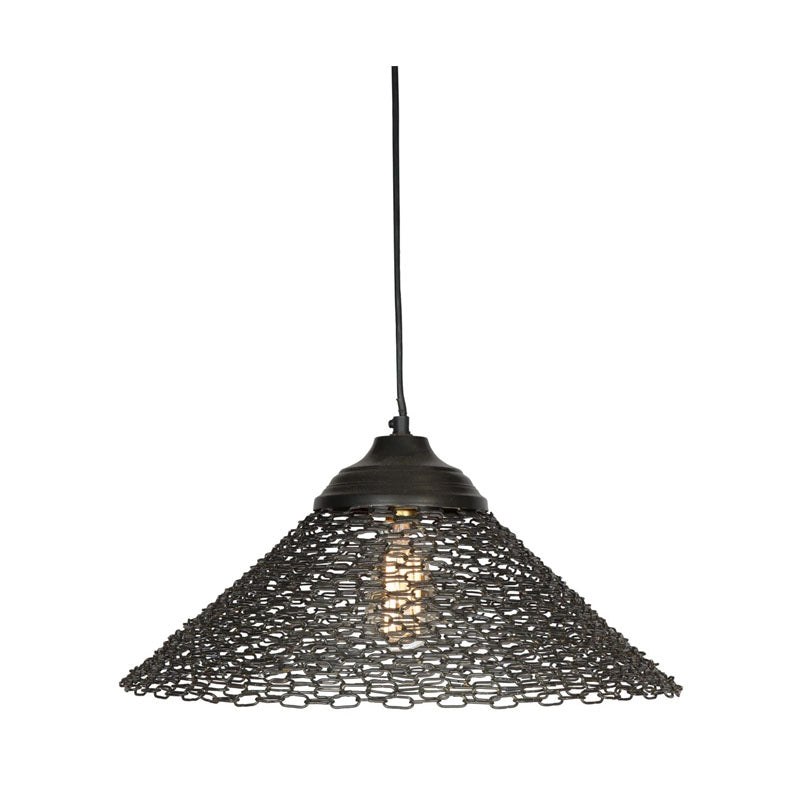 Antique Iron Pendant Ceiling Light - Black - Notbrand