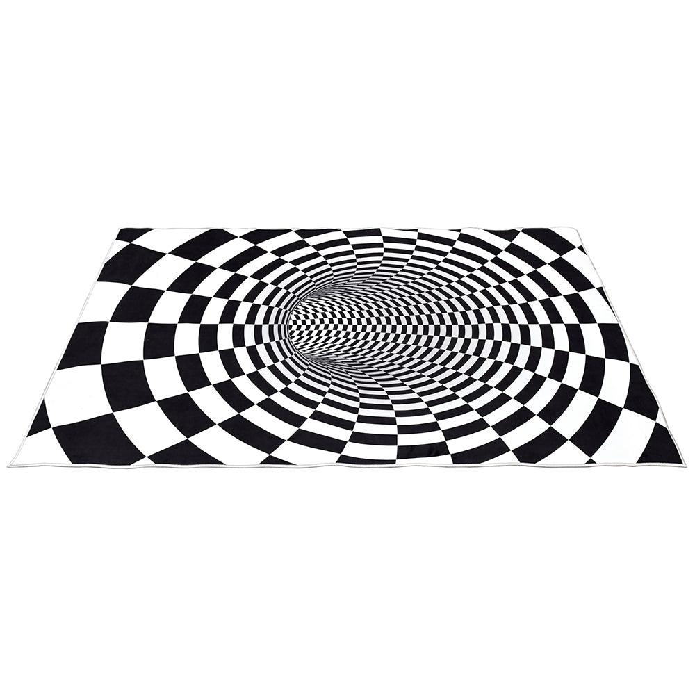 Tunnel Printed Checkered Optical Rug - Notbrand