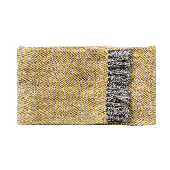 Juniper Herringbone Throw Ochre - Notbrand