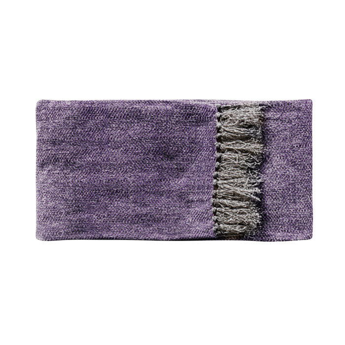 Juniper Herringbone Throw Plum - Notbrand