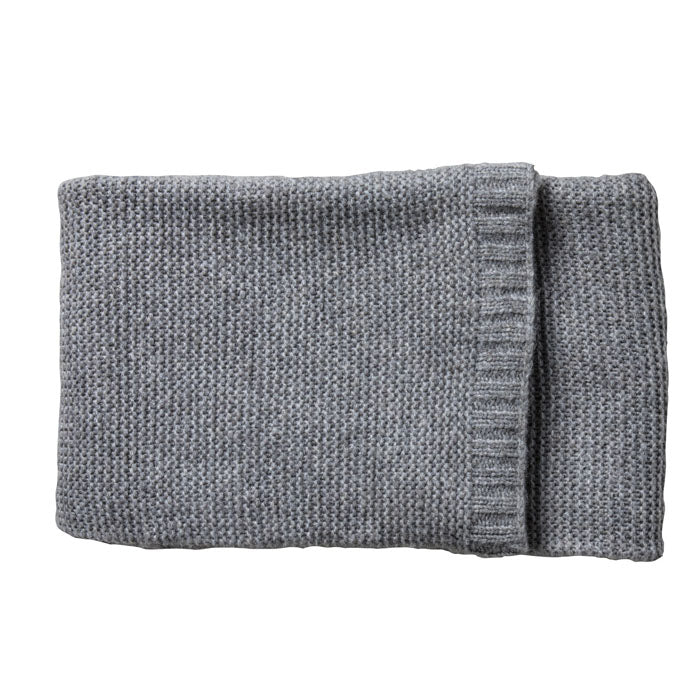 Faye Knitted Throw Grey - Notbrand