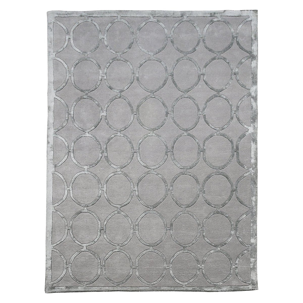 Silver Cleo Luxury Tufted Wool Rug