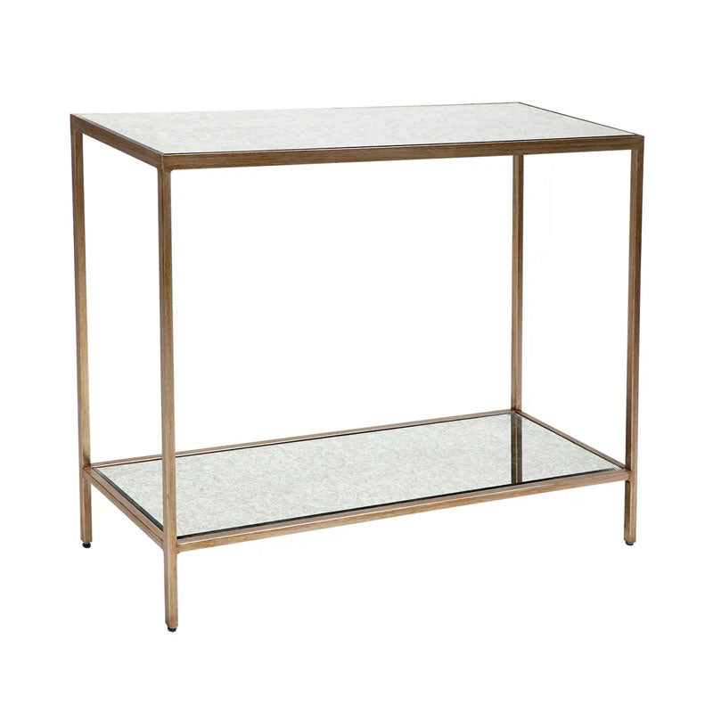 Cocktail Mirrored Console Table - Small Antique Gold - Notbrand