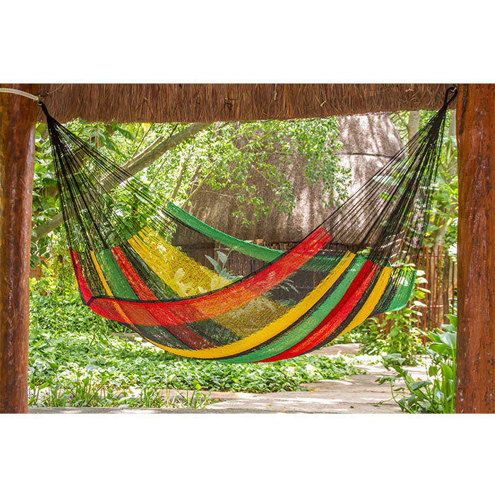Cotton Mexican Hammock Rasta Colour - Notbrand
