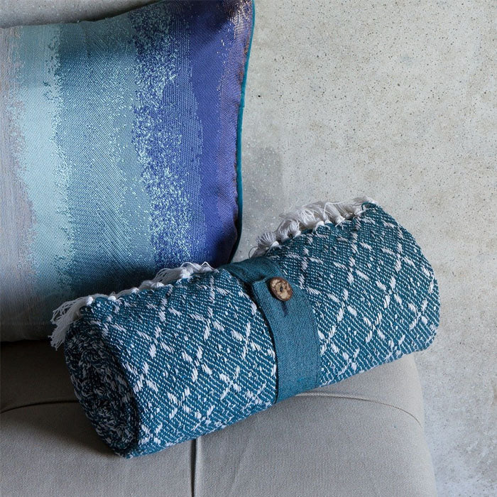 Jax Cotton Organic Throw Teal - Notbrand