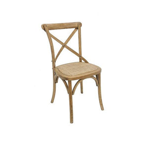 Cross Back Dining Chair Natural