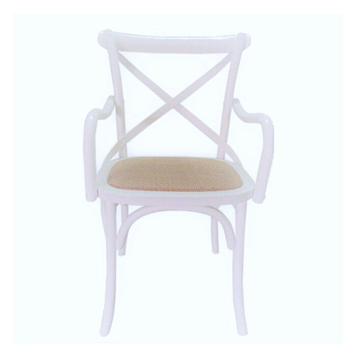 Carver Cross Back Dining Chair White