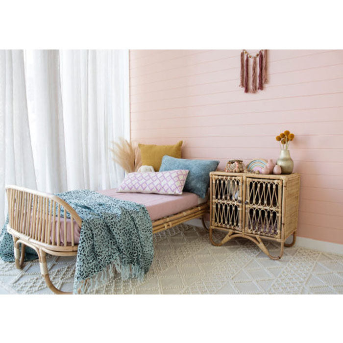 Sage Rattan Toddler Bed with Mattress